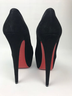 Brand New Christian Louboutin Daffodile Black Suede 40