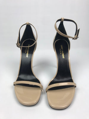 Brand New Saint Laurent Nude Patent Sandals 39