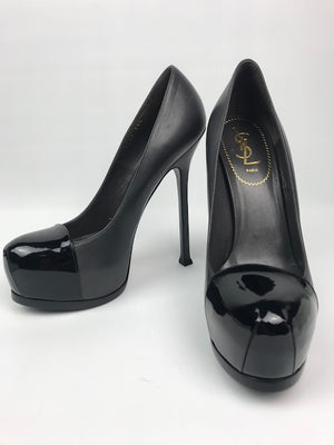 Yves Saint Laurent Tribute Double Platform Pump Black 39.5