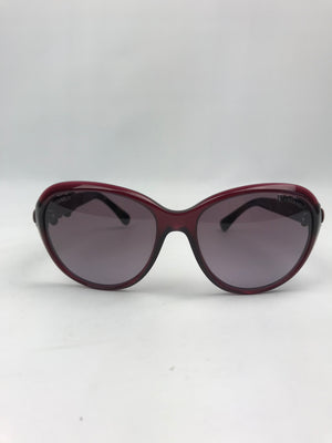 Chanel Camellia Burgundy Sunglasses
