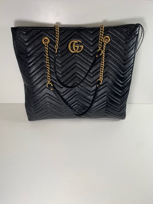 Brand New Gucci Large Marmont Tote Black