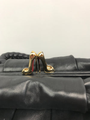 Chrisitan Louboutin Loubette Small Softy Handbag Black