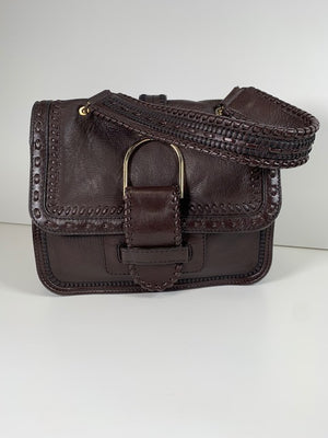 Jimmy Choo Brown Woven Shoulder Bag