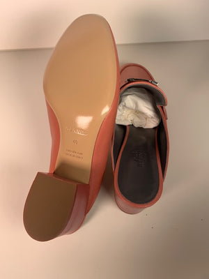 Brand New Hermes Paradis Mules Rouge Blush 40