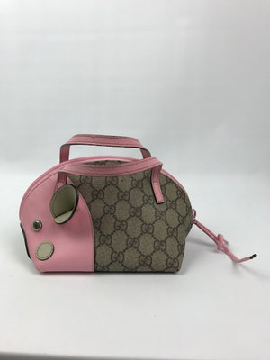 Girls Gucci Mouse Monogram Handbag