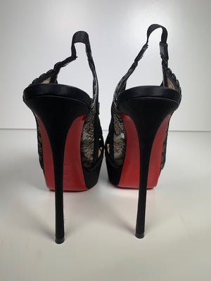 Christian Louboutin Guiptik Lace 40 (Small Fit)