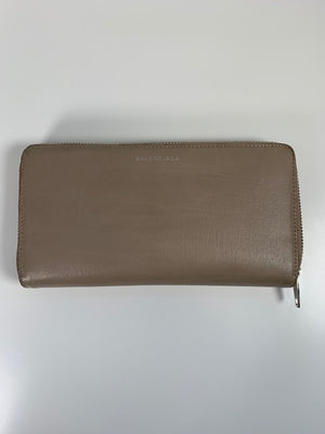 Balenciaga Long Wallet Beige