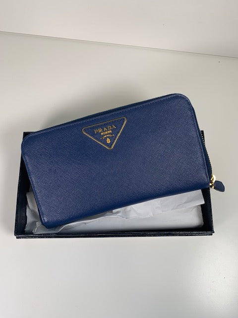 Brand New Prada Saffiano Long Wallet Purse