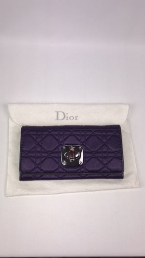 Brand New Lady Dior Satin Purse