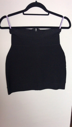 Herve Leger Black Bandage Mini Skirt Size Small