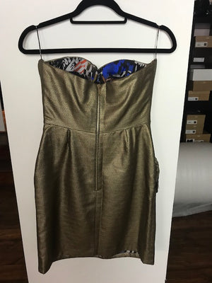 Mathew Williamson Bronze Embellished Dress Size 10