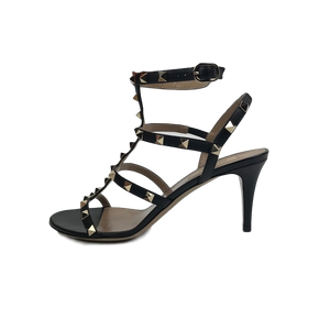 Valentino Black Rockstud Sandals 39