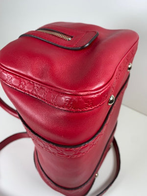 Gucci Boston Bag Red Leather