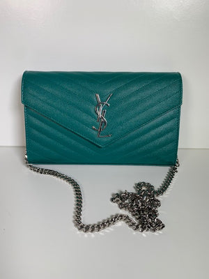 Saint Laurent Wallet On Chain Malachite Green