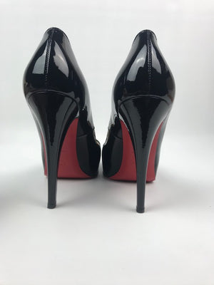 Christian Louboutin Very Prive Black Patent 38