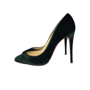 Brand New Christian Louboutin Pigalle Follies Green Velvet 38