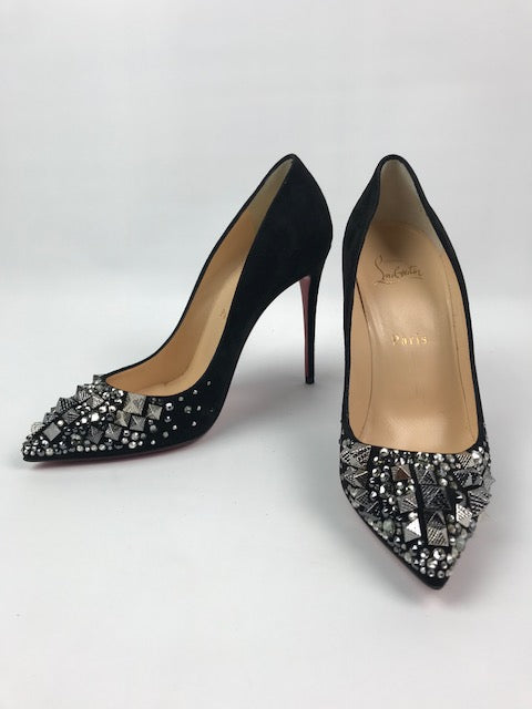 7d00c5102eb2 Brand New Christian Louboutin Strass Pigalle Follies 38 - Love Luxe