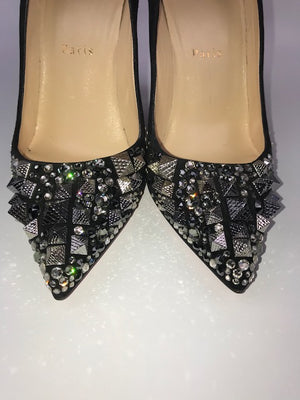Brand New Christian Louboutin Strass Pigalle Follies 38