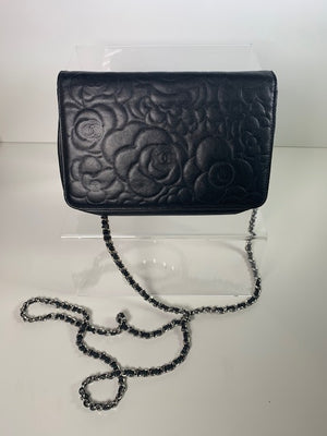 Chanel Wallet On Chain Black Lambskin