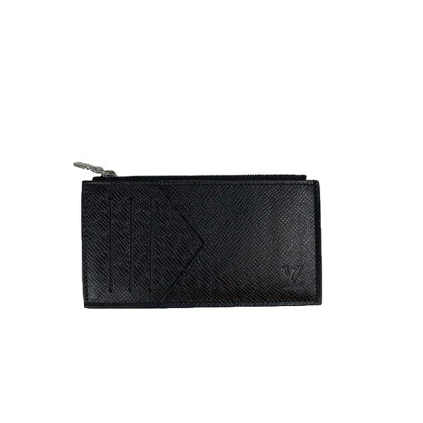 Brand New Louis Vuitton Zipped Cardholder Black Tiaga Leather