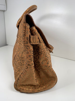 Mulberry Bayswater Metallic Leopard Suede Tan