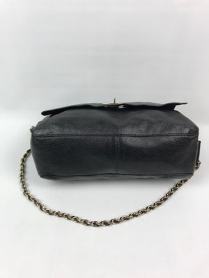Mulberry Large Lily Black Spongy Leather