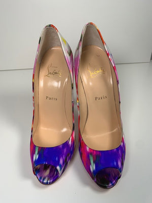 Brand New Christian Louboutin Youpi Satin Bouquet 39