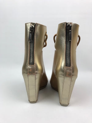 Brand New Rick Owens Peep-Toe Chain Booties 36