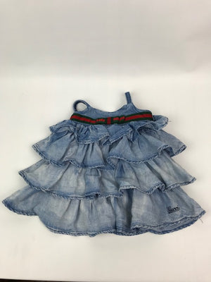 Bay Girls Gucci Denim Dress 6-9 months