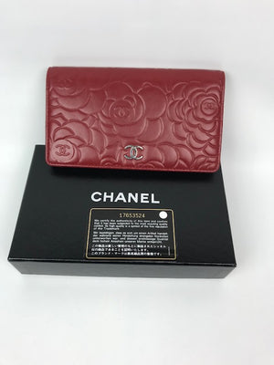 Chanel Camellia Bi-fold Wallet Purse