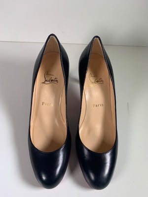 Brand New Christian Louboutin Simple Pump Black Kid 37.5