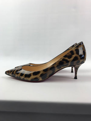 Brand New Christian Louboutin Leopard Patent Pumps 38