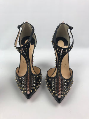 Brand New Christian Louboutin Goldostrap Pumps 37