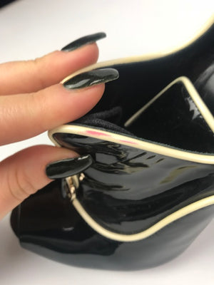 Gucci Black Patent Booties 37.5