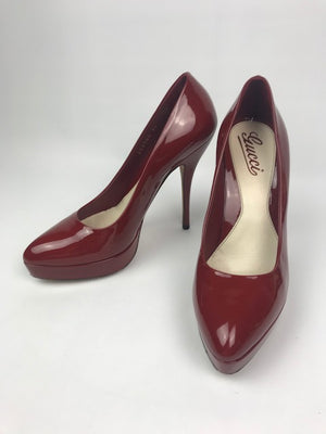 Gucci Red Patent Pumps 37