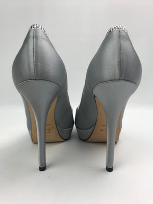 Brand New Christian Dior Satin Crystal Pumps 37