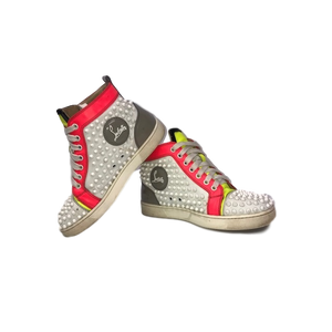 Pre-owned Christian Louboutin Spike Sneakers 37.5