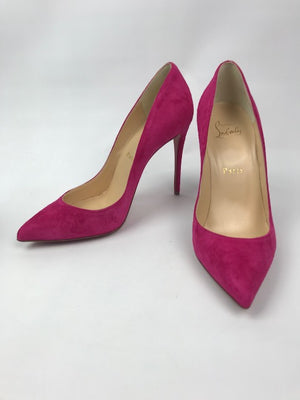 Brand New Christian Louboutin Pigalle Follies Fuchsia Suede 37.5