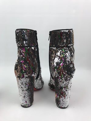 Brand New Christian Louboutin Moulamax Sequin Caresse Boot 35