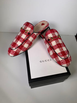 Brand New Gucci Princetown Mules 38.5