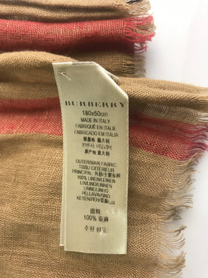 Burberry Classic Check Linen Scarf