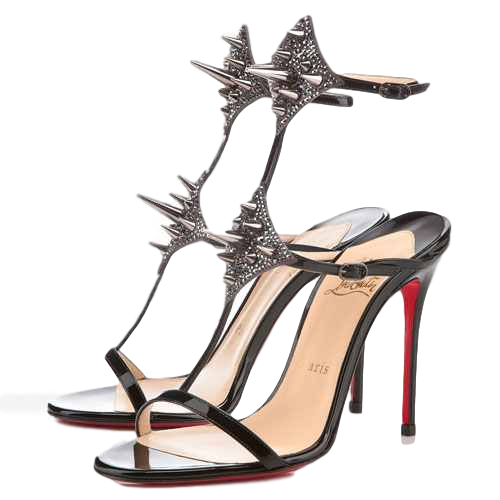 Brand New Christian Louboutin Lady Max Spike Strass 36