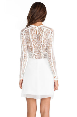 Three Floor Le Blanc Lace Dress Size 8 UK