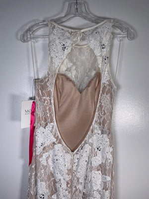 Morilee Ivory & Nude Lace Gown Size 10
