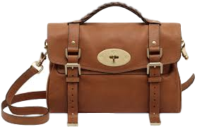 Mulberry Alexa Satchel Handbag Oak Leather