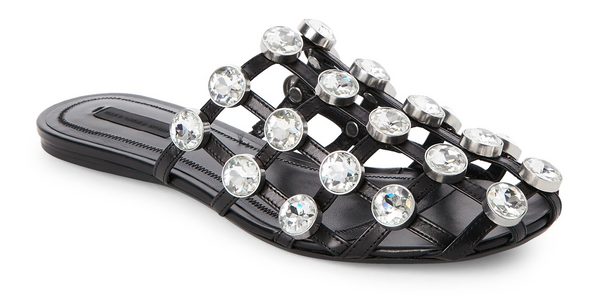 Brand New Alexander Wang Jeweled Amelia Sliders 38