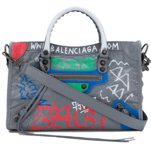Brand New Balenciaga Graffiti Mini City Bag Current Season