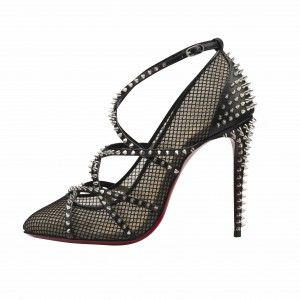 Brand New Christian Louboutin Bouvines Spike Mesh Pumps 38