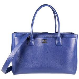 Chanel Executive Cerf Large Tote Blue