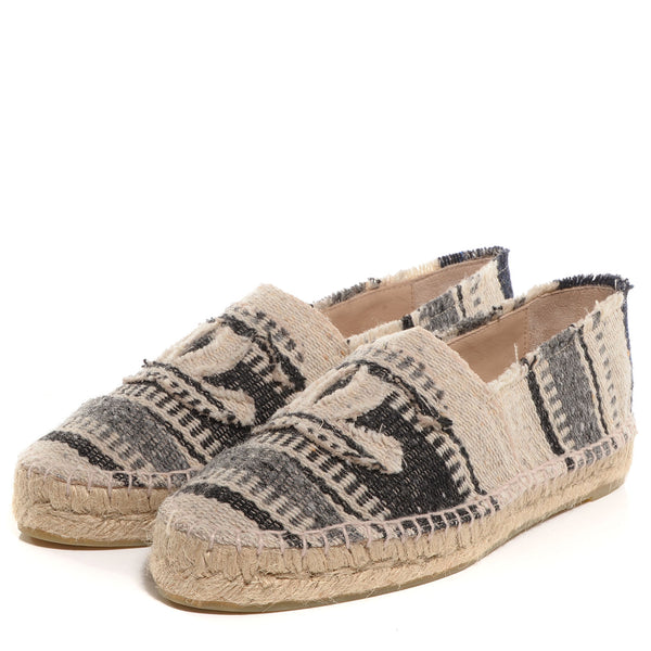 Brand New Striped Chanel Canvas Espadrille 40
